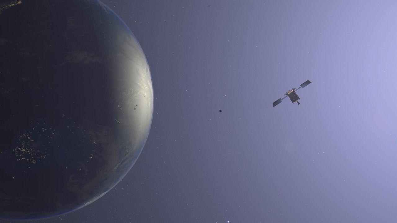 Hayabusa 2 vor der Erde