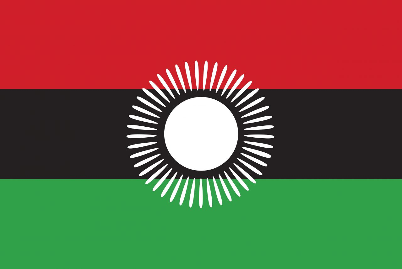 Alte Flagge von Malawi