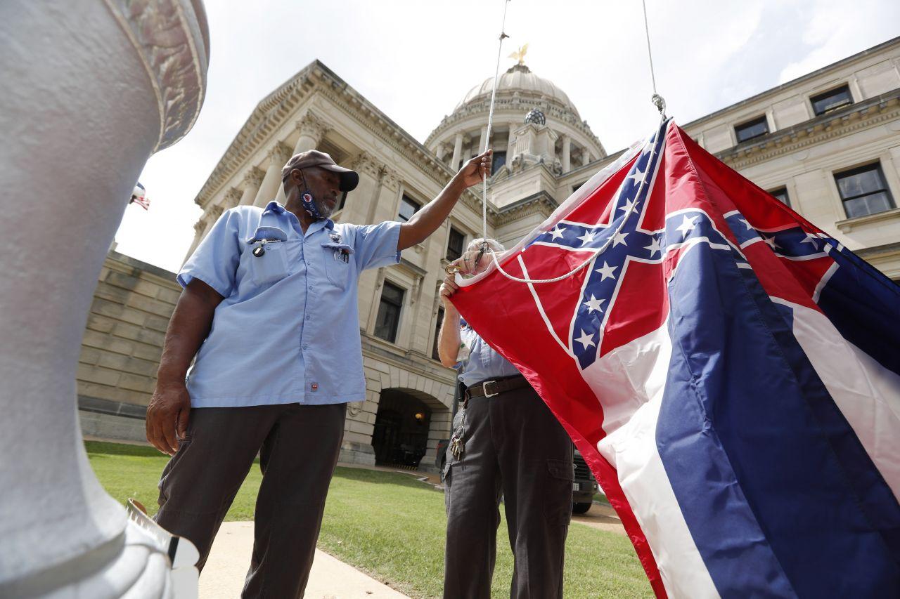 Alte Flagge von Mississippi