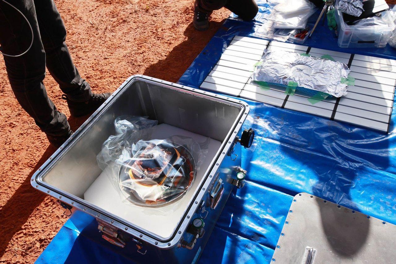 Probenbehälter der Hayabusa-2-Sonde