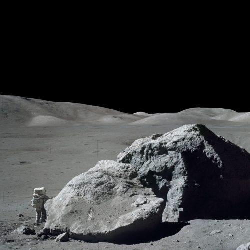 Apollo-17-Astronaut Harrison Schmidt auf dem Mond