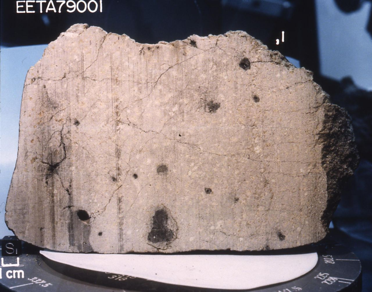 Der erste bekannte Mars-Meteorit EETA79001