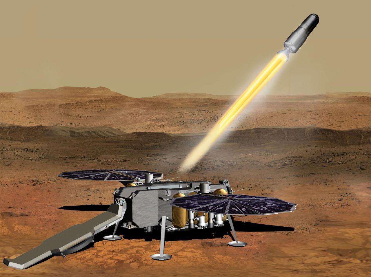 Illustration der Mars Sample Return Mission