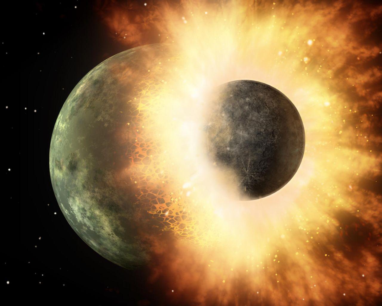 Die Entstehug des Monds