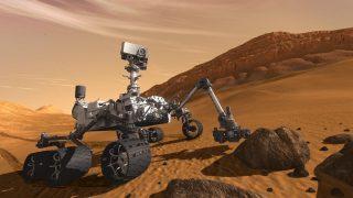 Perseverance Rover nimmt eine Probe
