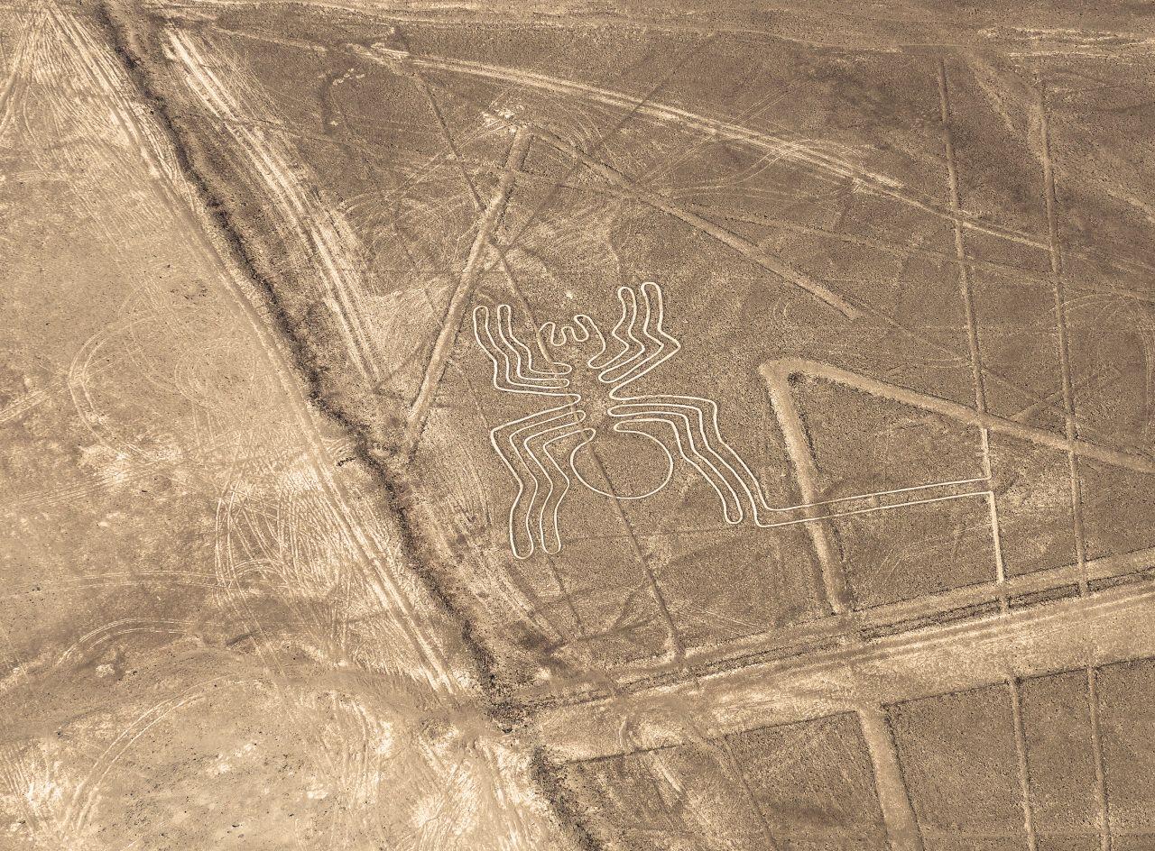 Naszca Spinnenbild in Peru