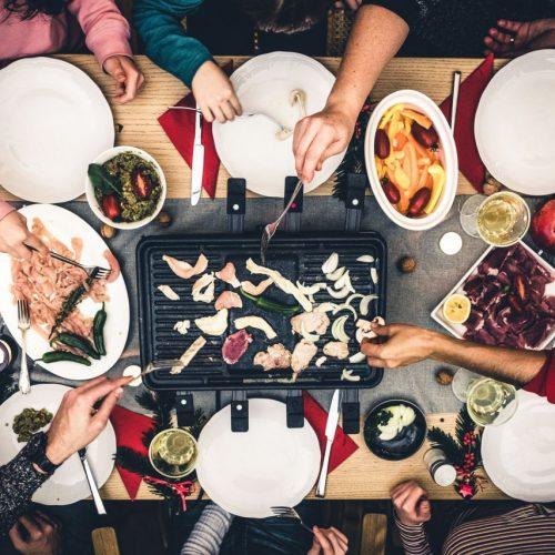 Raclette zu Silvester und Weihnachten