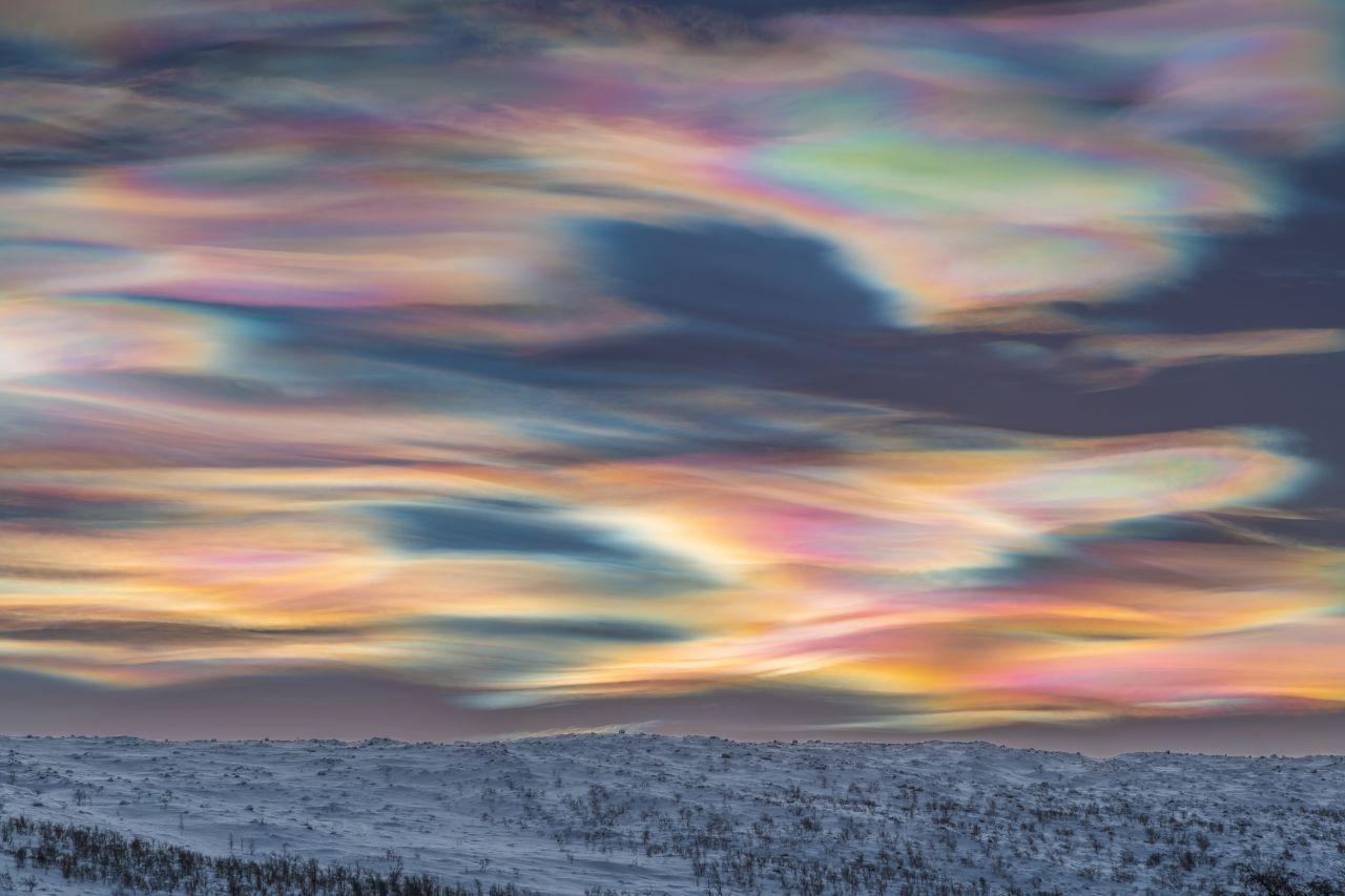 Polare Stratosphärenwolken in Lappland
