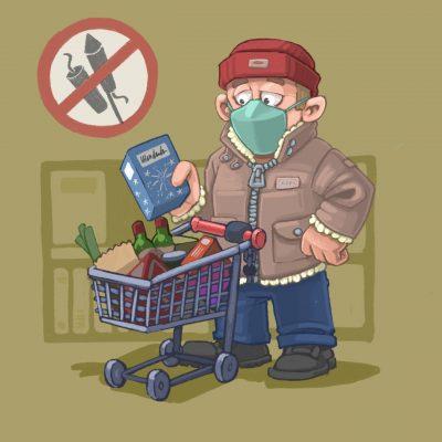 Comic: Kein Feuerwerk im Supermarkt