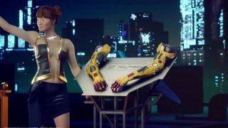 """Im Game """"Cyberpunk 2077"""" rüsten die Menschen ihre Körper mit """"Cyberware"""" auf."""