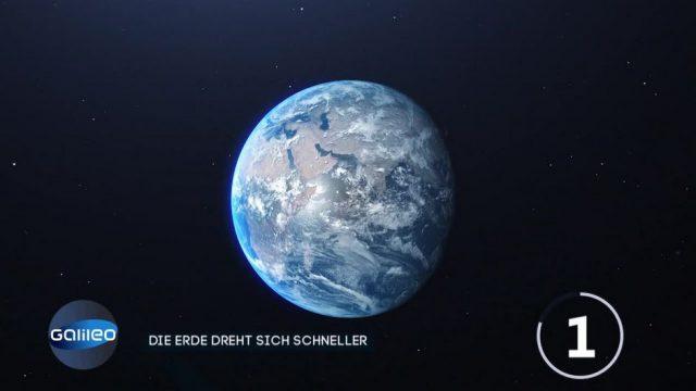 2020 drehte sich die Erde schneller