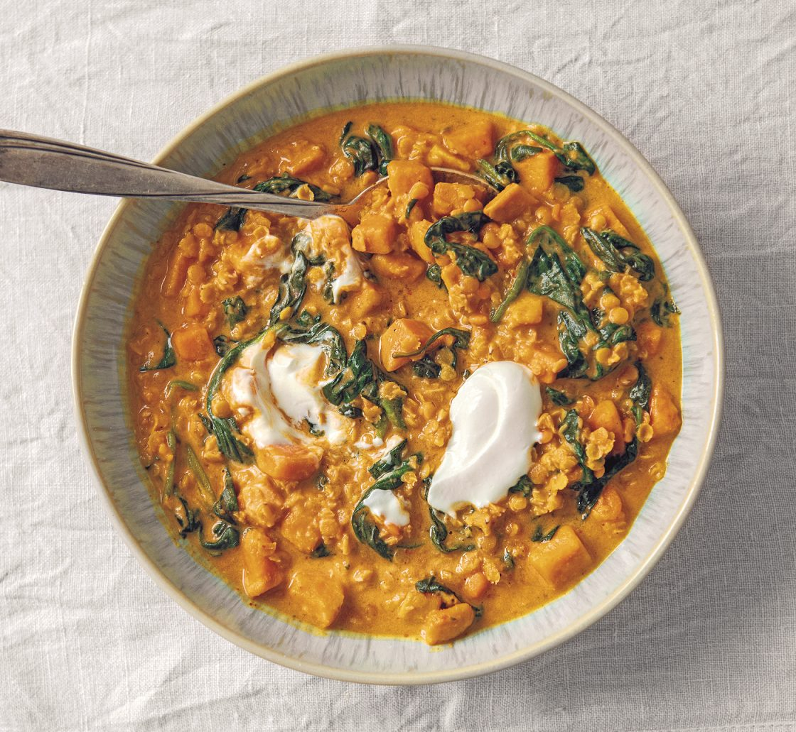Süßkartoffel-Linsen-Suppe mit 5 Zutaten