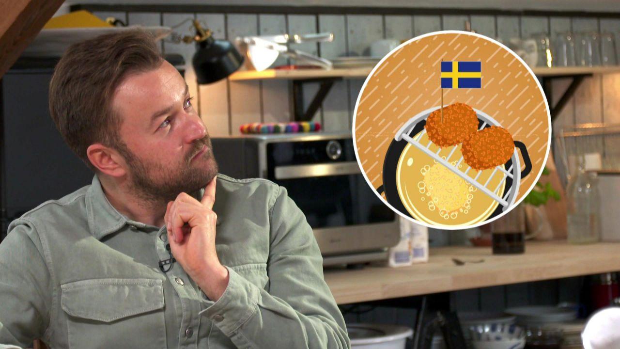 Martin denkt nach. Eine Abbildung zeigt ein gezeichnetes Gericht
