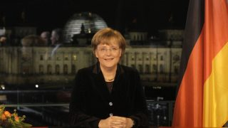 Bundeskanzlerin Angela Merkel bei Neujahrsansprache 2007