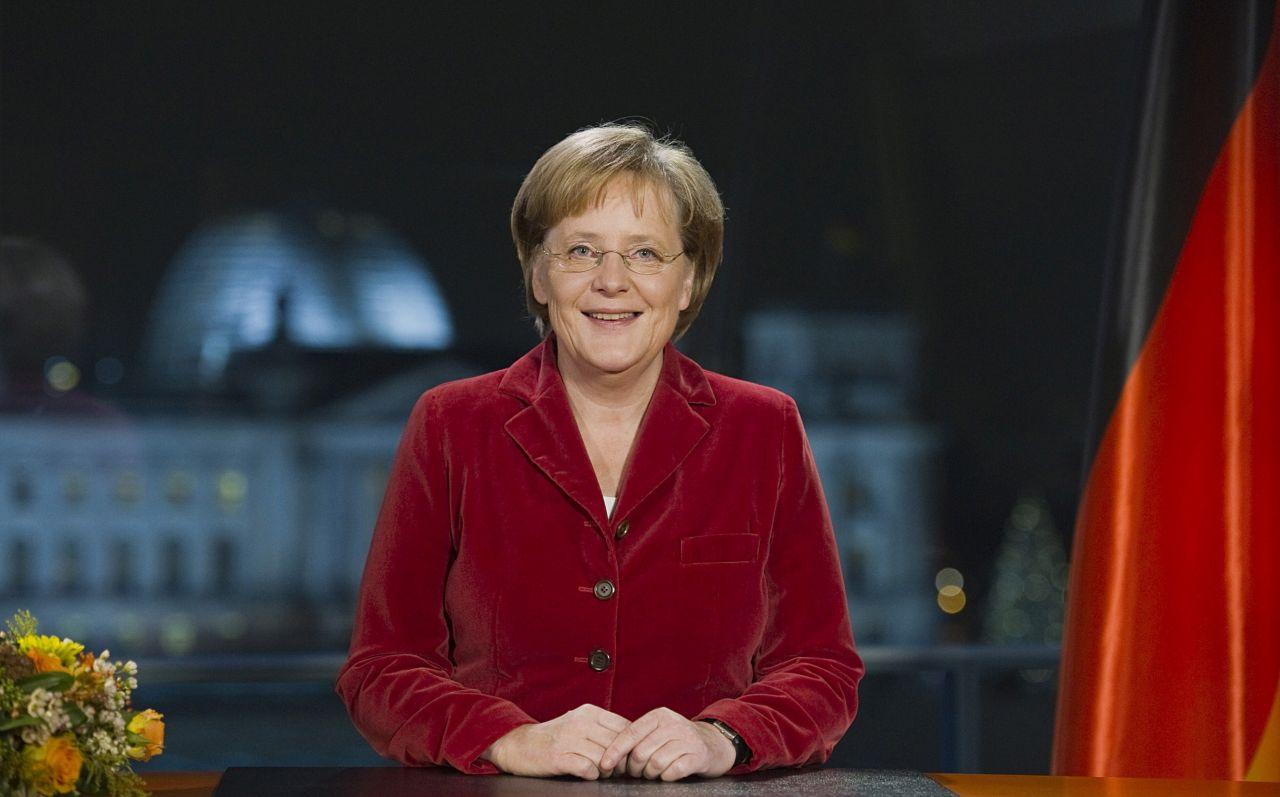 Bundeskanzlerin Angela Merkel bei Neujahrsansprache 2009