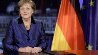 Bundeskanzlerin Angela Merkel bei Neujahrsansprache 2010