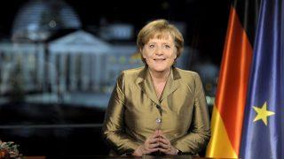 Bundeskanzlerin Angela Merkel bei Neujahrsansprache 2011