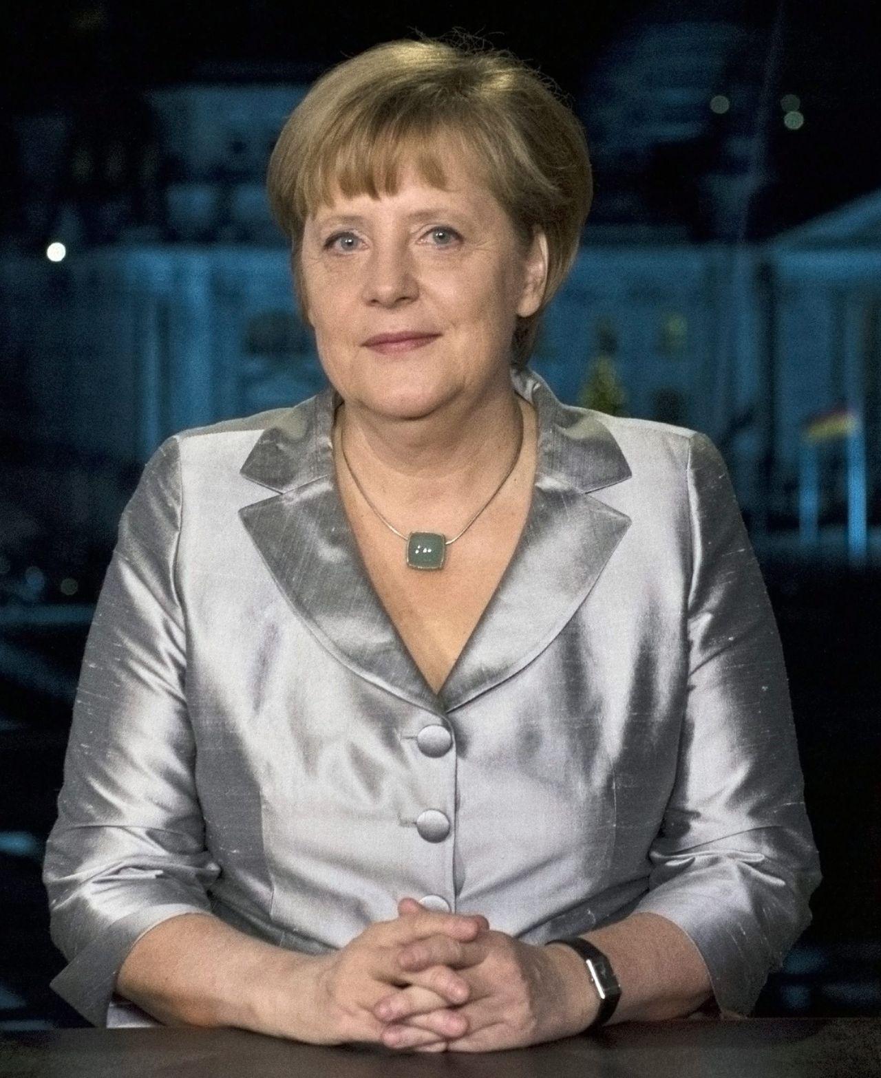 Bundeskanzlerin Angela Merkel bei Neujahrsansprache 2012
