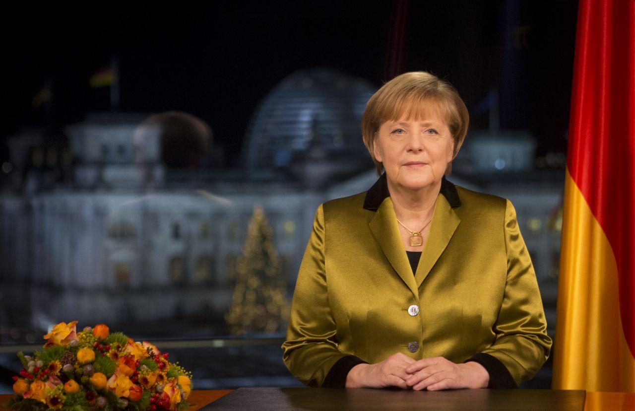 Bundeskanzlerin Angela Merkel bei Neujahrsansprache 2013