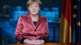 Bundeskanzlerin Angela Merkel bei Neujahrsansprache 2014