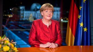 Bundeskanzlerin Angela Merkel bei Neujahrsansprache 2015
