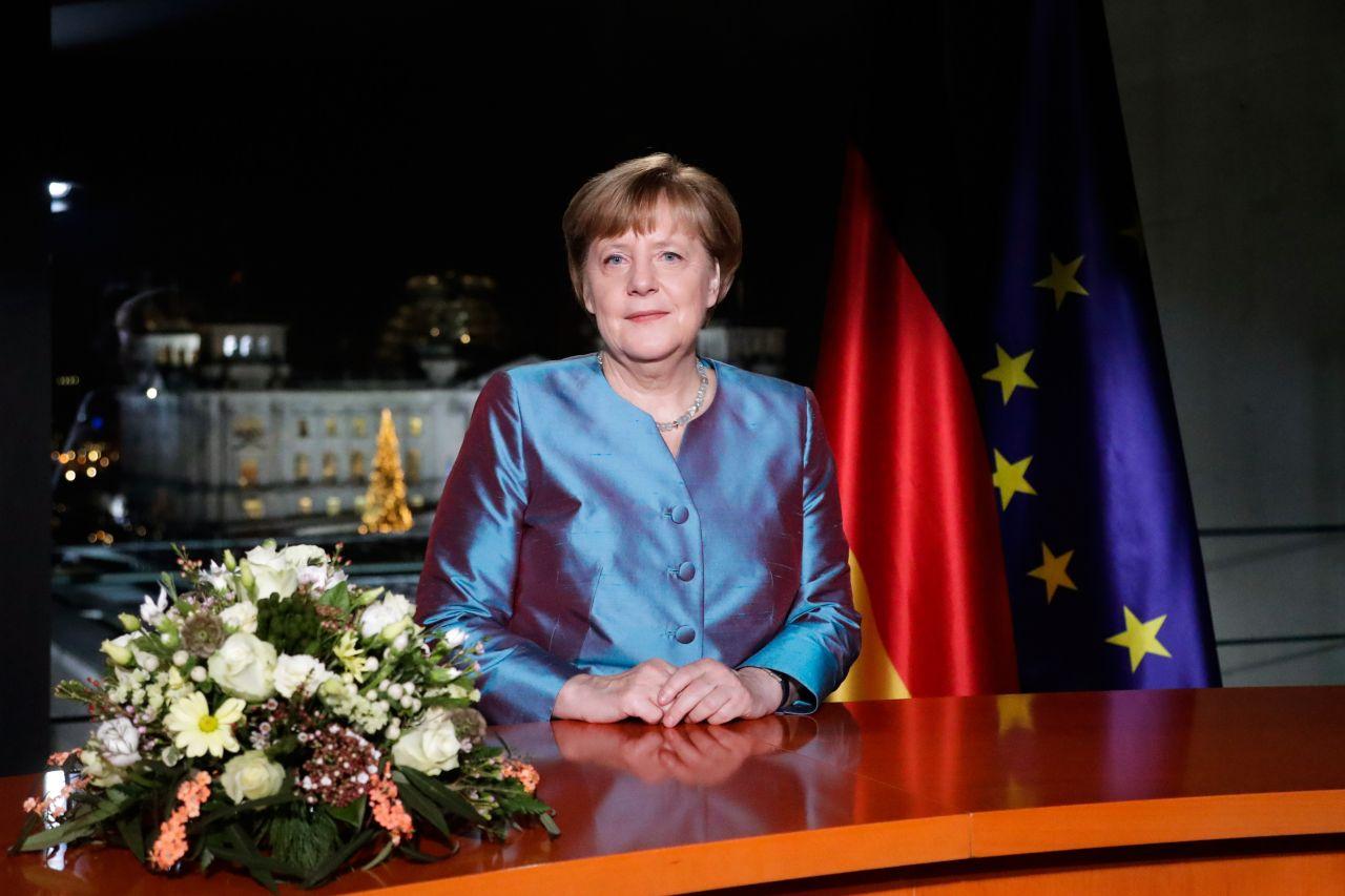 Bundeskanzlerin Angela Merkel bei Neujahrsansprache 2016