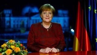 Bundeskanzlerin Angela Merkel bei Neujahrsansprache 2017