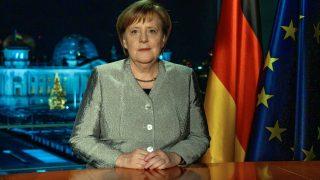 Bundeskanzlerin Angela Merkel bei Neujahrsansprache 2018