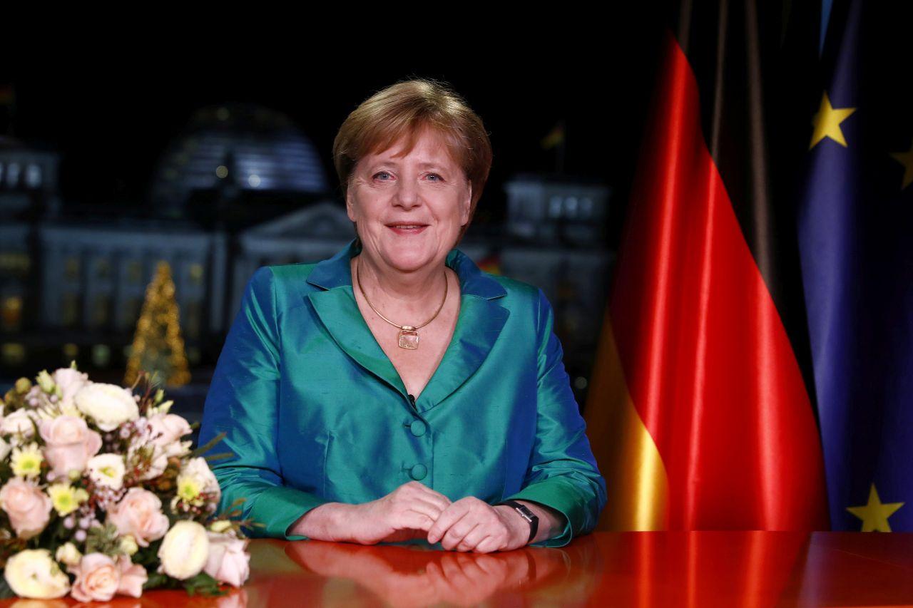 Bundeskanzlerin Angela Merkel bei Neujahrsansprache 2019