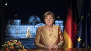 Bundeskanzlerin Angela Merkel bei Neujahrsansprache 2020