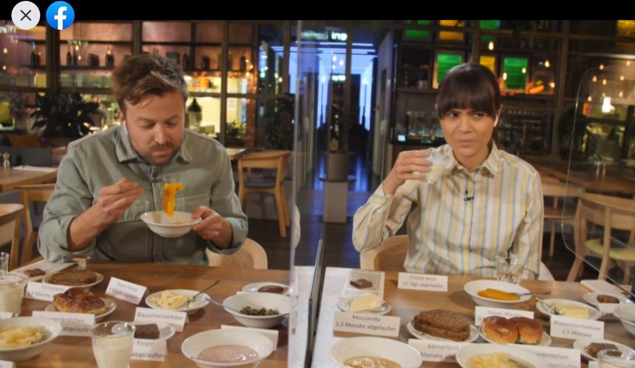 Die Du gegen Galileo-Live-Challenge: Claire und Martin essen abgelaufene Lebensmittel - ist es wirklich so schlimm?