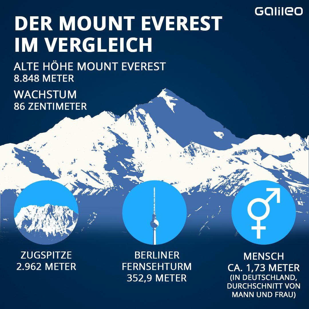 Der Mount Everest im Vergleich