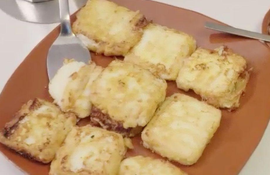 8 Leche Fritas serviert auf einen Teller
