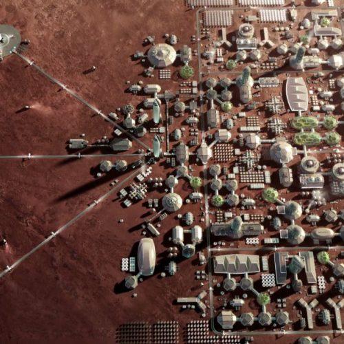 Geplante Marsstadt von Elon Musk