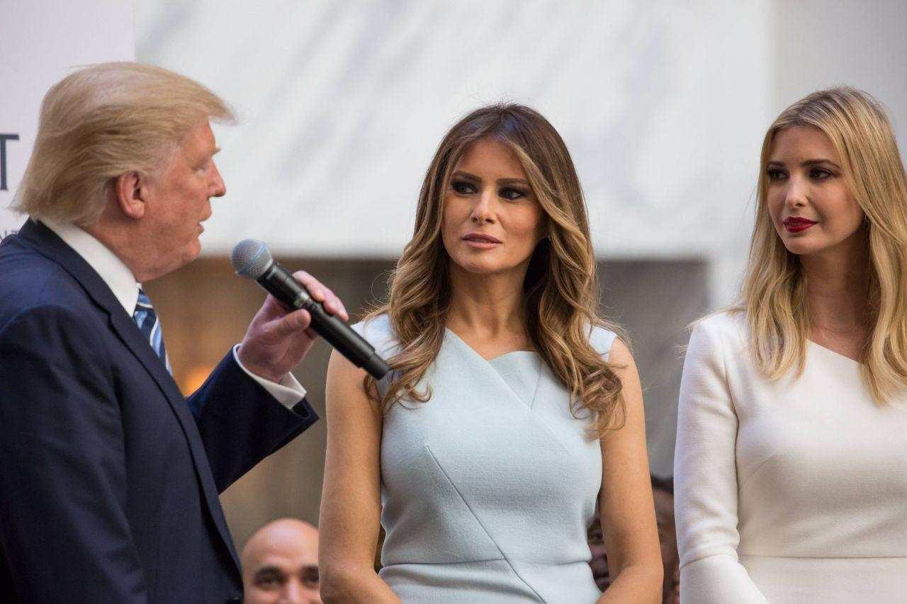 Donald Trump mit Ehefrau Melania und Tochter Ivanka