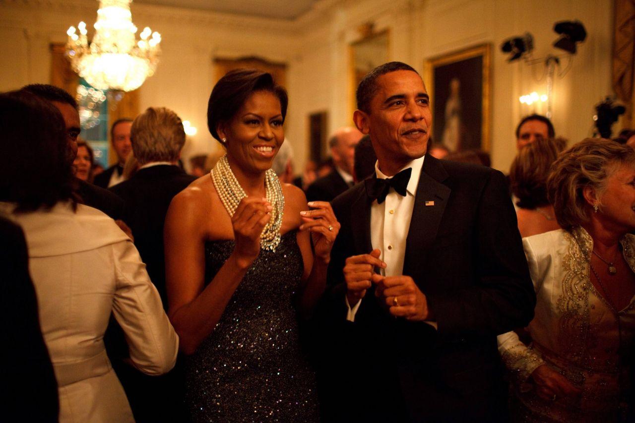 Michelle Obama mit Barack Obama