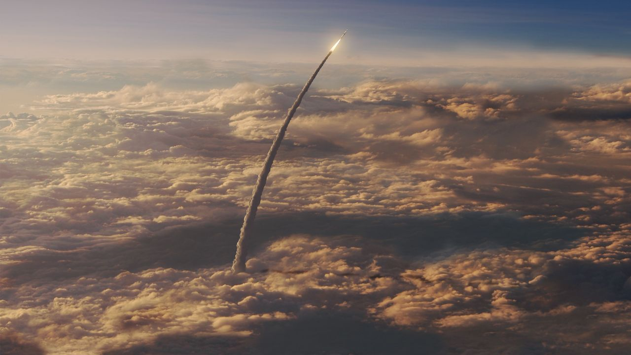SLS über den Wolken