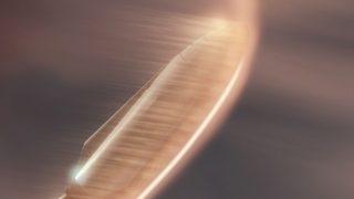 SpaceX Raumschiff beim Eintritt in die Mars-Atmosphäre