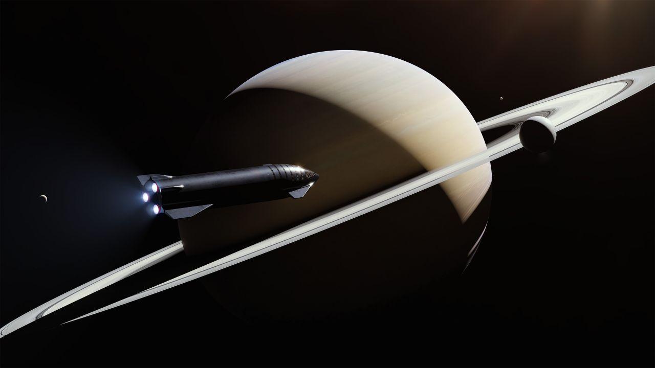 SpaceX Starship beim Saturn