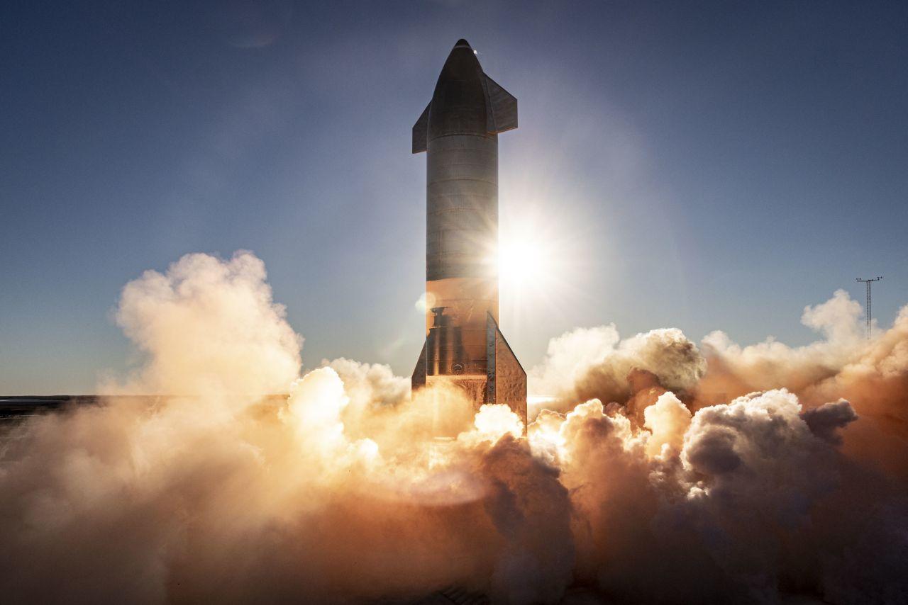 Prototyp des Starships von SpaceX