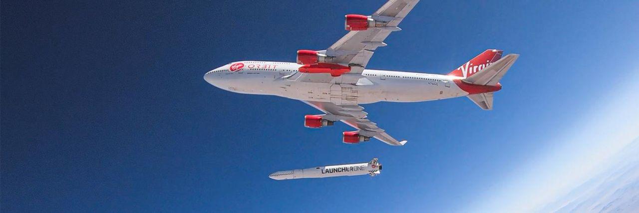 Die 747 beim Raketenabwurf