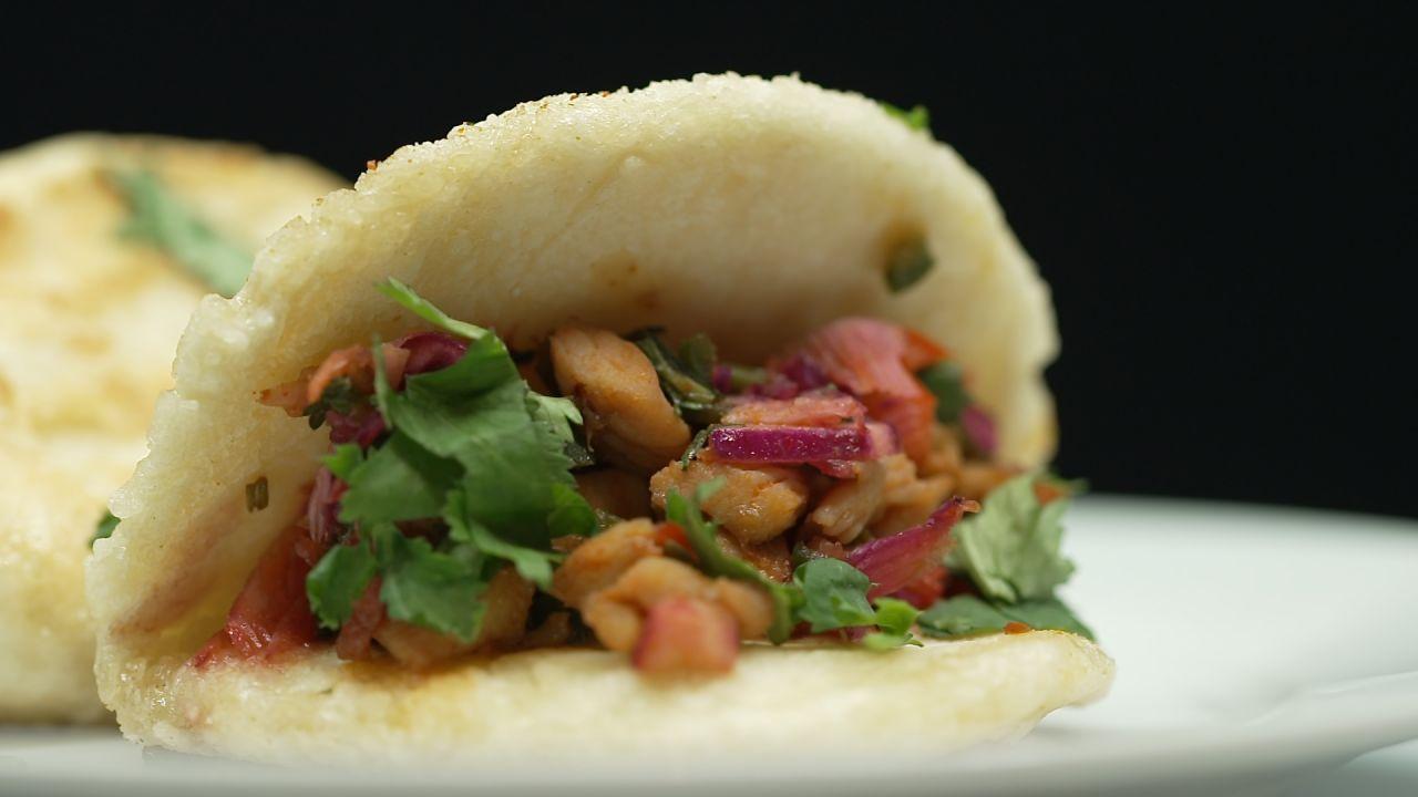 Vietnamesische Bao Bun Tacos