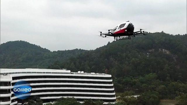 Autonom fliegende Drohnen statt Taxis