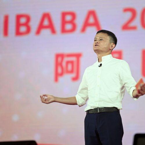 Jack Ma hält im September 2019 eine Rede bei einer Veranstaltung zum 20-jährigen Bestehen der Alibaba Group in Hangzhou (China).