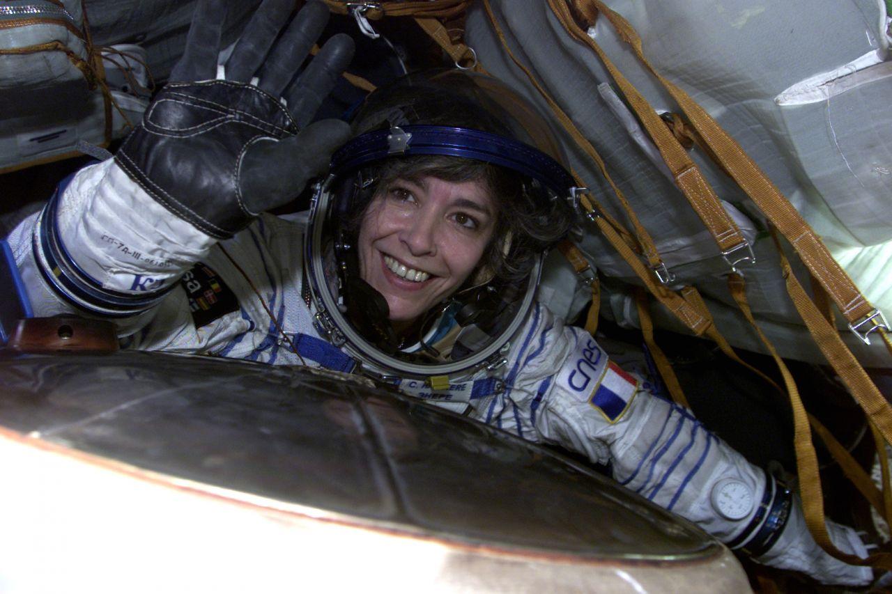 Die französische Astronautin Claudie Haigneré