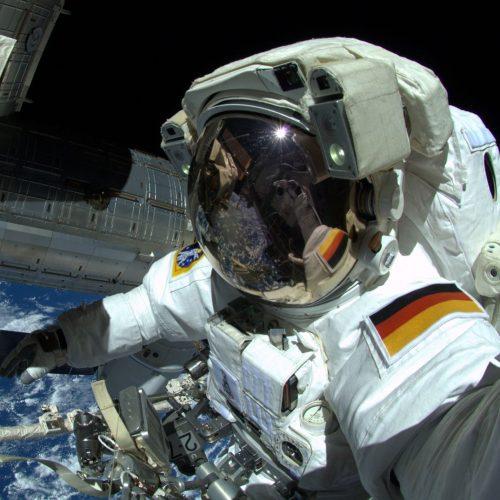 ESA-Astronaut Alexander Gerst beim Weltraumspaziergang