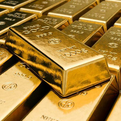 Mehrere Goldbarren je 1000 Gramm