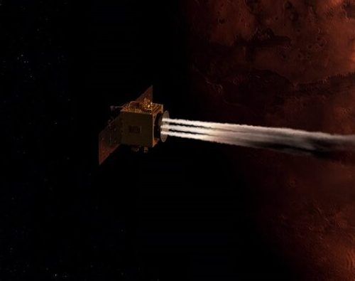 Arabische Marssonde Hope schwenkt auf Marsumlaufbahn ein