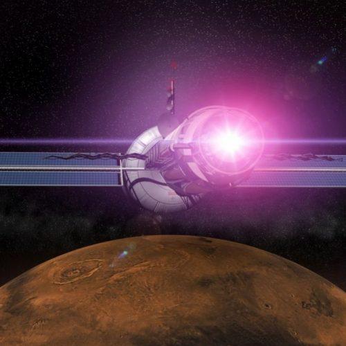 Mit elektromagnetischem Antrieb ließe sich der Mars in nur wenigen Monaten oder sogar Wochen erreichen.