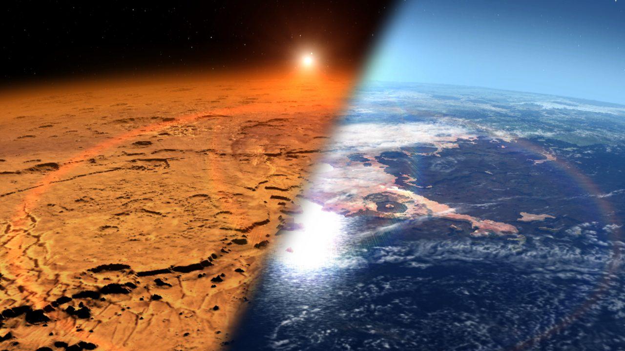 Mars mit Ozean